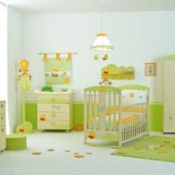 kasur bayi hijau