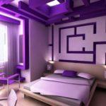 Desain Kamar Warna Ungu Modern Minimalis 2019