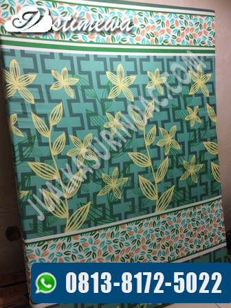 kasur inoac motif hijau