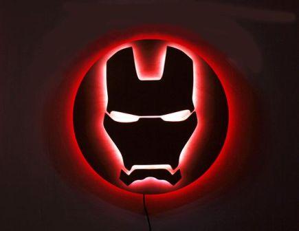 bed lights iron man