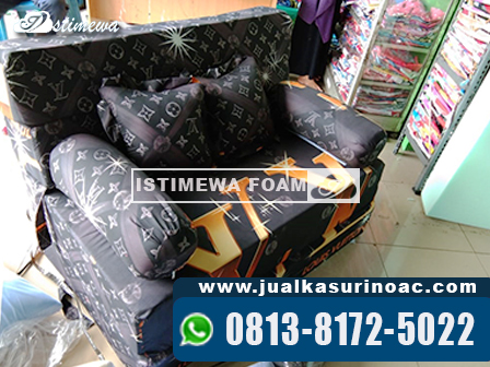 Sofa Bed Inoac Motif Gelap LV
