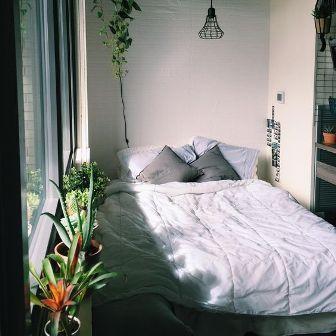 Cara Menata Kamar Tidur Minimalis pot bunga bagus