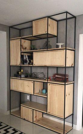 Rak Dinding Minimalis kayu modern