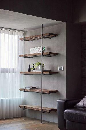 Rak Dinding Minimalis kayu hiasan unik