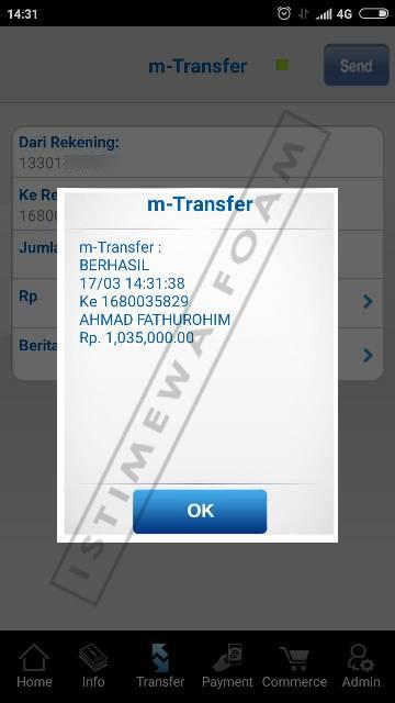 transfer bca inoac